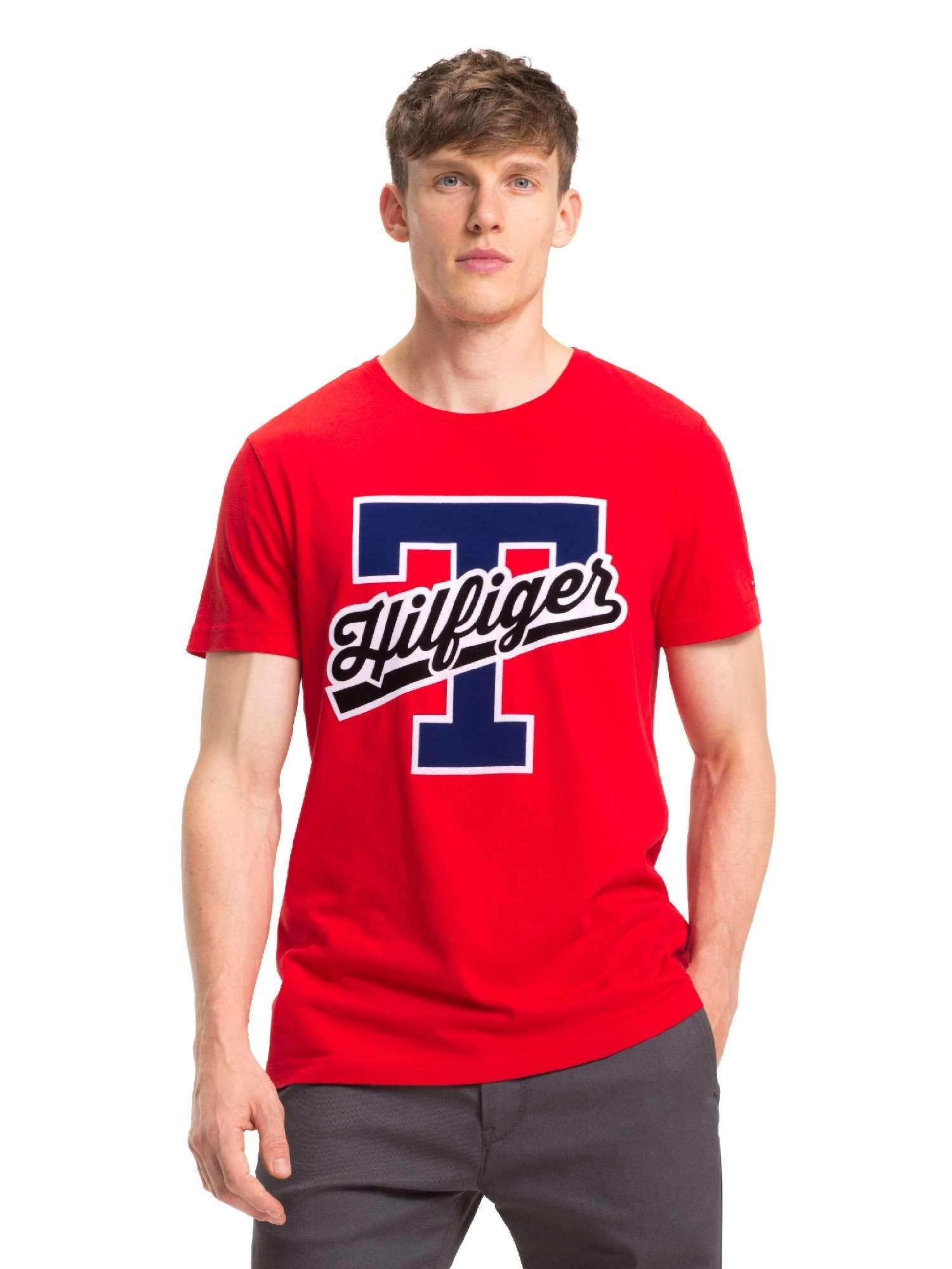 Tommy Hilfiger T-Script Logo tee Camiseta para Hombre