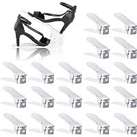 BIGLUFU Lot de 20 Support à Chaussures Réglables,Empiler Les Chaussures, Organiseur de Chaussures Economie d'Espace à…