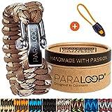 PARALOOP Paracord Armband für Herren/Männer  inkl. Geschenkbox  Verschluss aus Edelstahl  in vielen Farben; Bracelet