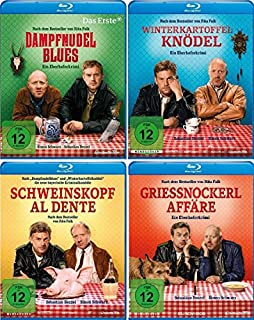 Eberhofer - 4 Blu-Ray Set (Dampfnudelblues + Winterkartoffelknödel + Schweinskopf al dente + Grießnockerlaffäre) im Set - Deuts