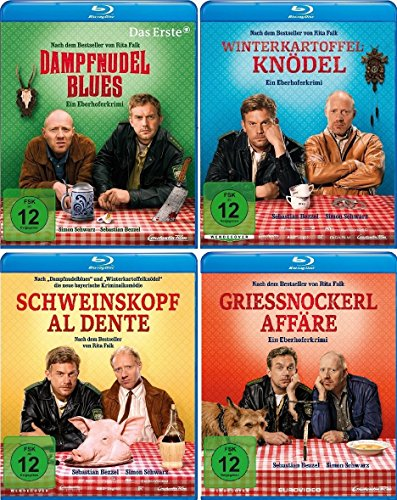 Eberhofer - 4 Blu-Ray Set (Dampfnudelblues + Winterkartoffelknödel + Schweinskopf al dente +...