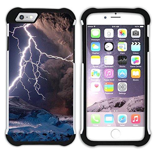 Graphic4You Blitz Blitzstrahl Sturm Hart + Weiche Kratzfeste Hülle Case Schale Tasche Schutzhülle für Apple iPhone 6 Plus / 6S Plus Design #2