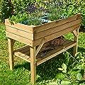 Nordje Hochbeet Almina aus Holz 120x60x85cm mit Ablage Bausatz inkl. Folie Kiefer KDI … von Nordje bei Du und dein Garten