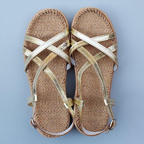 XY&GKBettwäsche Sandalen Frauen alleinigen Foot Pads der Sommer Damen Sandalen, komfortabel und schön d - 38