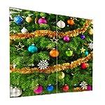 MagiDeal 2 Pezzi Tende di Finestra, Porta con Natale Stile per Decorazioni Natalizie