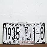Cartel de chapa Placa metal tin sign retro nostálgico metalicas elvis presley matrícula del coche Azul Ante Shoes