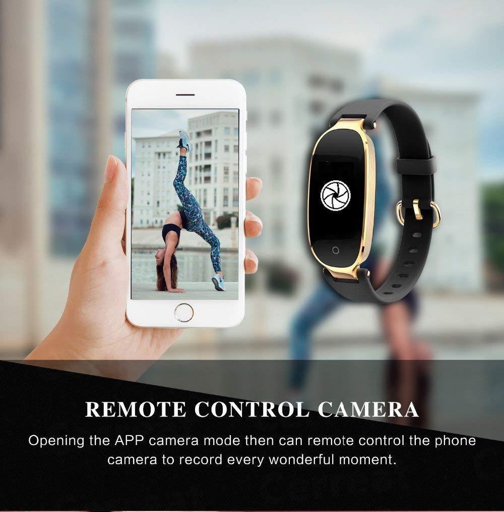 Rayfit Pulsera Actividad Reloj Inteligente Mujer Monitor de Ritmo Cardíaco Fitness Tracker Contador de Calorías Pasos Monitor de Sueño Podómetro Ejercicios Salud Pulsera Deportiva Pulsómetros 5