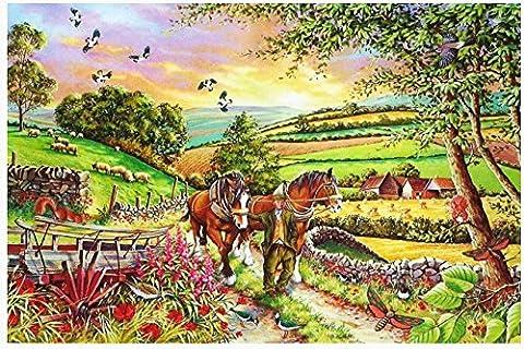1000 Teile Puzzle - das Ende der Tag auf dem Bauernhof (End Of Day At The Farm)