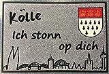wash+dry Köln Fußmatte Kölle grau 50 x 75 cm