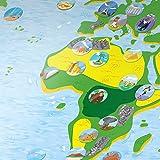 kidsmap - Geschichte, Tierarten uvm., illustrierte Weltkarte für Kinder: Geschichte, Geographie, berühmte Personen, liebevolle Illustrationen und mehr in einem einzigartigen Format -