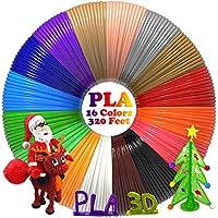 dikale 3D Stift Filament 1,75mm -16 Farben 6.1M PLA Filament, 3D Stifte Farben für 3D Stift, kompatibel mit ODRVM, Tipeye, Uvistare, Lovebay, PLUSINNO, QPAU, Canbor, Juboury, Nexgadget 3D Pen