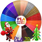 dikale PLA 3D Pen Filament Refills(16 Colors, 20 Feet Each) with 100 Stencils