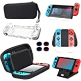 13 in 1 Case & Accessories Kit for Nintendo Switch, Comes with BOENFU Carrying Case for Nintendo Switch, Screen…