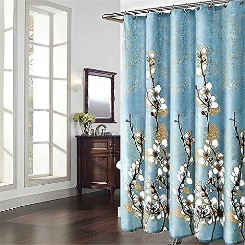 QEWA® Shower Curtain Hand Painted Polyester Fabric Bath Curtains Waterproof