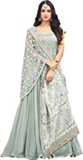MR CROZY Faux Georgette Lehenga Choli (_Light Green_Free Size)