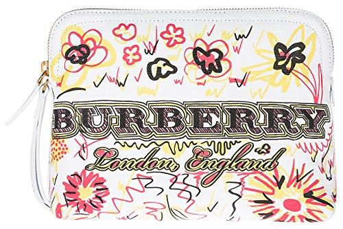Burberry Pochette Handtasche Damen Tasche Clutch NeuWeiß (Handtasche Burberry Canvas)