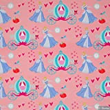 Jersey Stoff Disney Prinzessin Cinderella rosa