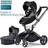 Hot Mom Kombikinderwagen mit Buggyaufsatz und Babywanne 2017