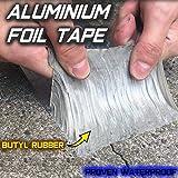 Starke Qualität wasserdichtes Klebeband Butylkautschuk Aluminiumfolie Tape, wasserdichtes Klebeversiegelung für Rohr Glas Boden Dach Fenster Wand (1.5mm*10cm*5m)