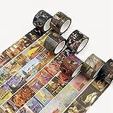JSGDJD Klebeband 10 Stk/pack Master Van Gogh Monet Malerei Washi Tape DIY Scrapbooking Sticker Label Abdeckband Schule Bürobedarf - 10 Stück/Pack