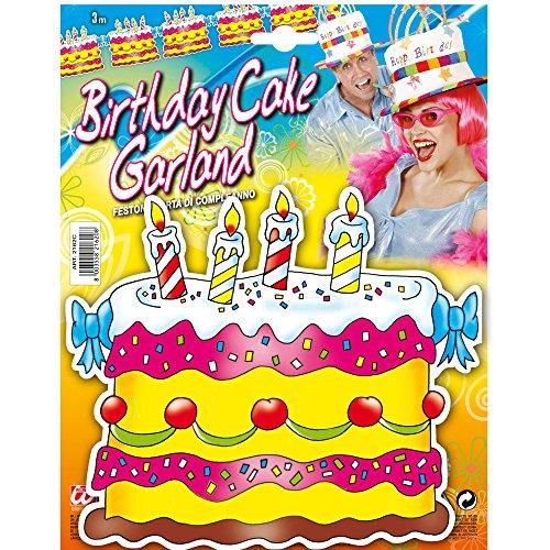 Widmann 2162C - Girlande Geburtstag Torte, One Size