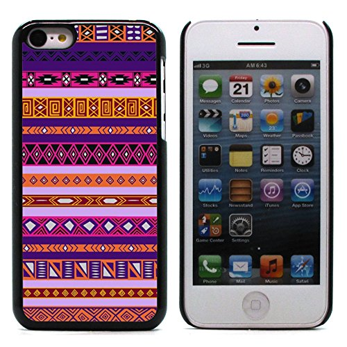 Graphic4You COLORFUL TRIBAL Muster Harte Hülle Case Tasche Schutzhülle für Apple iPhone 5C Design #3