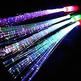Eventlights Leuchtwedel multicolor 12 Stk. - Leuchtstab mit Glasfaserfäden - Party, Disko, Konzert