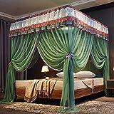 RZJF Moskitonetz - Edelstahlhalterung Sommer-Moskitonetz 1,8-2,0 Bett Grün 1,5 M (5 Fuß) Bett