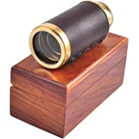 "Karmakara Maritime Brass Spyglass Telescope 6"" With Wooden Box"