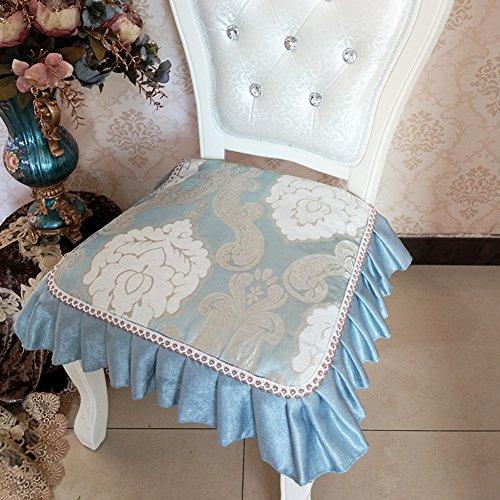 Oshdkslds lusso stile europeo da pranzo sedia cuscino stagione universale antiscivolo sgabello rivestimento in tessuto sfoderabile e lavabile-k 45x45cm(18x18inch)