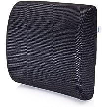 Cuscino Lombare / Supporto Lombare Premium da MemorySoft - Per la Tua Casa, la Sedia del Tuo Ufficio e la Tua Auto - Nuovo Design Ergonomico
