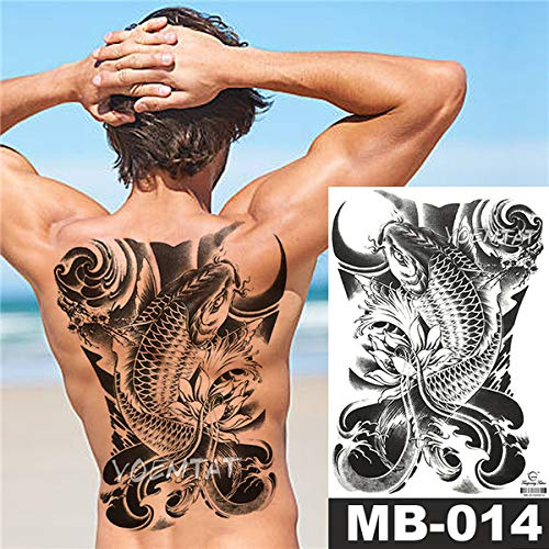 tzxdbh 2 Stücke-Blume Tattoo Aufkleber Damen Brust Bauch Kostüm Studio Rose Pfirsich Pfingstrose Tattoo Aufkleber 2 Stücke-