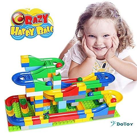 Kids Building Blocks 125 Pieces Set Rail Blocks including 6