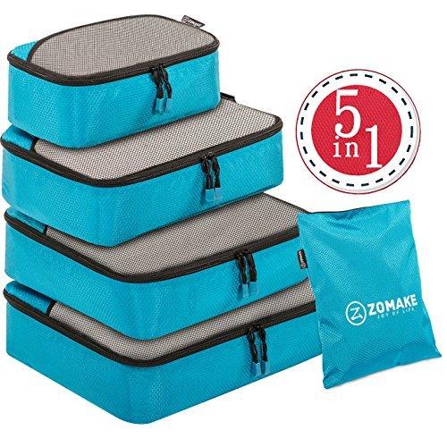 Organizador para Maleta,5 Piezas bolsa de almacenamiento Maleta Caja d