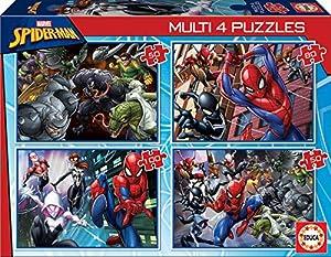 Educa Borrás- Ultimate, Spider Man, Hombre araña, Marvel Puzzle, Color Variado (18102)