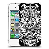 Head Case Designs Shogun Japanische Teufel Schwarz-Weiss Ruckseite Hülle für Apple iPhone 4 / 4S
