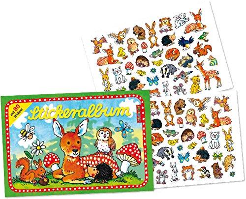 er 80 Sticker * SÜSSE WALDTIERE * von LUTZ MAUDER // 72010 // Rehe Hasen Igel Rehkitz Mäuse Geschenk Tattoo Kindersticker Aufkleber Stickerbuch (Sticker Album)