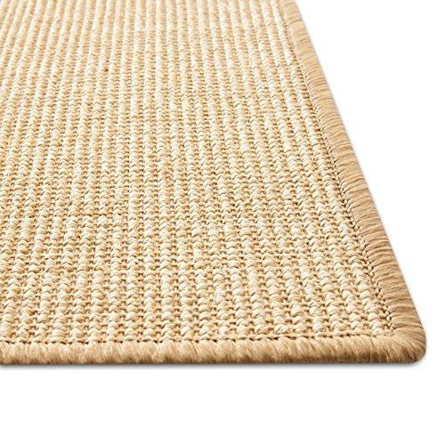 Floori® Sisal Kratzteppich | Naturfaser: nachhaltig und umweltfreundlich | Natur, 50x50cm - 3