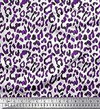 Soimoi Lila Seide Stoff Leopard Tierhaut Stoff Meterware 42
