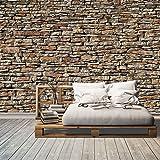 Fototapete American Stones 366x254cm Tapete Steine Steinwand Mauer 3D deco.deals