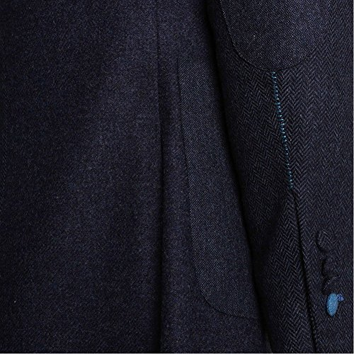 Holland Esquire SB2 Lambswool Shooting Patch Jacket (Navy) Navy