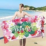 Asciugamani da spiaggia Asciugamano da spiaggia leggero in piscina in microfibra extra large Asciugamano leggero da piscina in schiuma leggera per nuotatori Coperta da spiaggia senza sabbia Tappetino