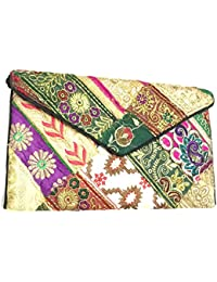 Shubhangi Women's Sling Bag (Jaipuri Embroidered Handicraft Traditional Sling Bags,ZARI GOTA WORK,Multi-Coloured... - B0781XVZRL