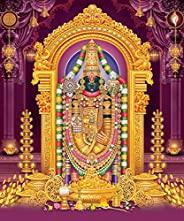 BuzzKards New Poster of Shree Lord Tirupathi Balaji Poster Glossy Wall Poster for Room, Bedroom, Office| Diwal