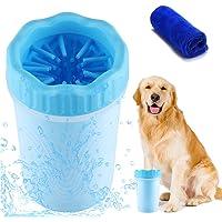 Pulitore della Zampa del Cane, Lavazampe Cani, Spazzola per Animali Domestici Portatile con Asciugamano Cane, Pulisci…