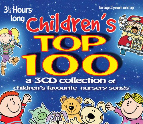 Childrens-Top-100-3-CD-set-of-childrens-favourite-nursery-songs-rhymes