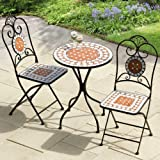 Transcontinental Group Ltd 60cm Diamond Mosaic Cast Iron Bistro Set