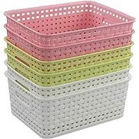 Annkky Lot de 6 Panier de Rangement, Panier De Stockage en Plastique