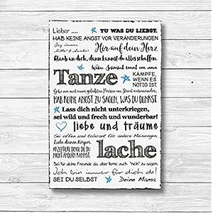 Für meinen Sohn Individualisiert – Dekoschild Wandschild Holz Deko Wand Schild 20x30cm Holzdeko Holzbild Geschenk Mitbringsel Geburtstag