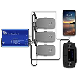 STARTRC Mavic 2 Ladegerät für DJI Mavic 2/Mavic 2 Zoom Akku Ladegerät